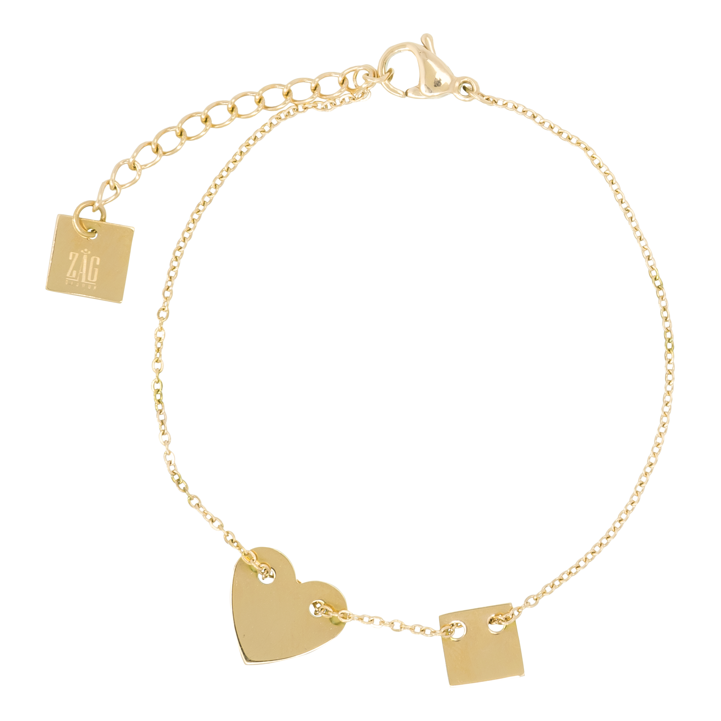 mini bracelet heart lennse isabel product gold
